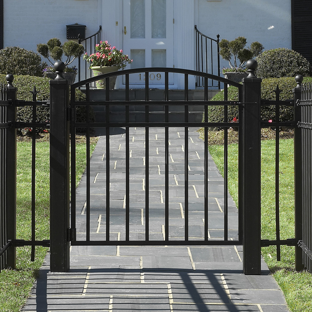 Fence Wrought Iron Fence Gate Pleasing Hamcol Wrought Iron Gates pertaining to proportions 1000 X 1000
