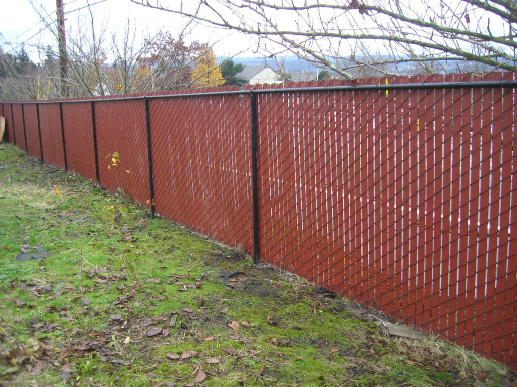 White Chain Link Fence Privacy Slats Peiranos Fences Chain within measurements 1024 X 768