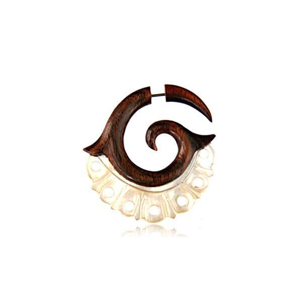 Alargador Falso Espiral Madrepérola (Unidade) (cópia)