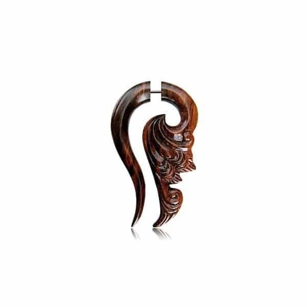 Alargador Falso Ornamento Madeira Orgânico