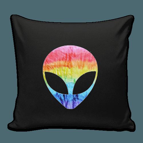 Almofada Tie Dye Preta Alien