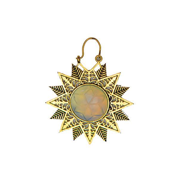 Brinco Mandala Sol (Dourado e Prateado)