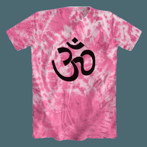 Camiseta Tie Dye Psicodélica Ohm Rosa