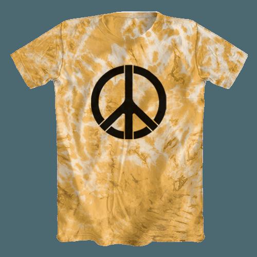 Camiseta Tie Dye Símbolo da Paz Laranja