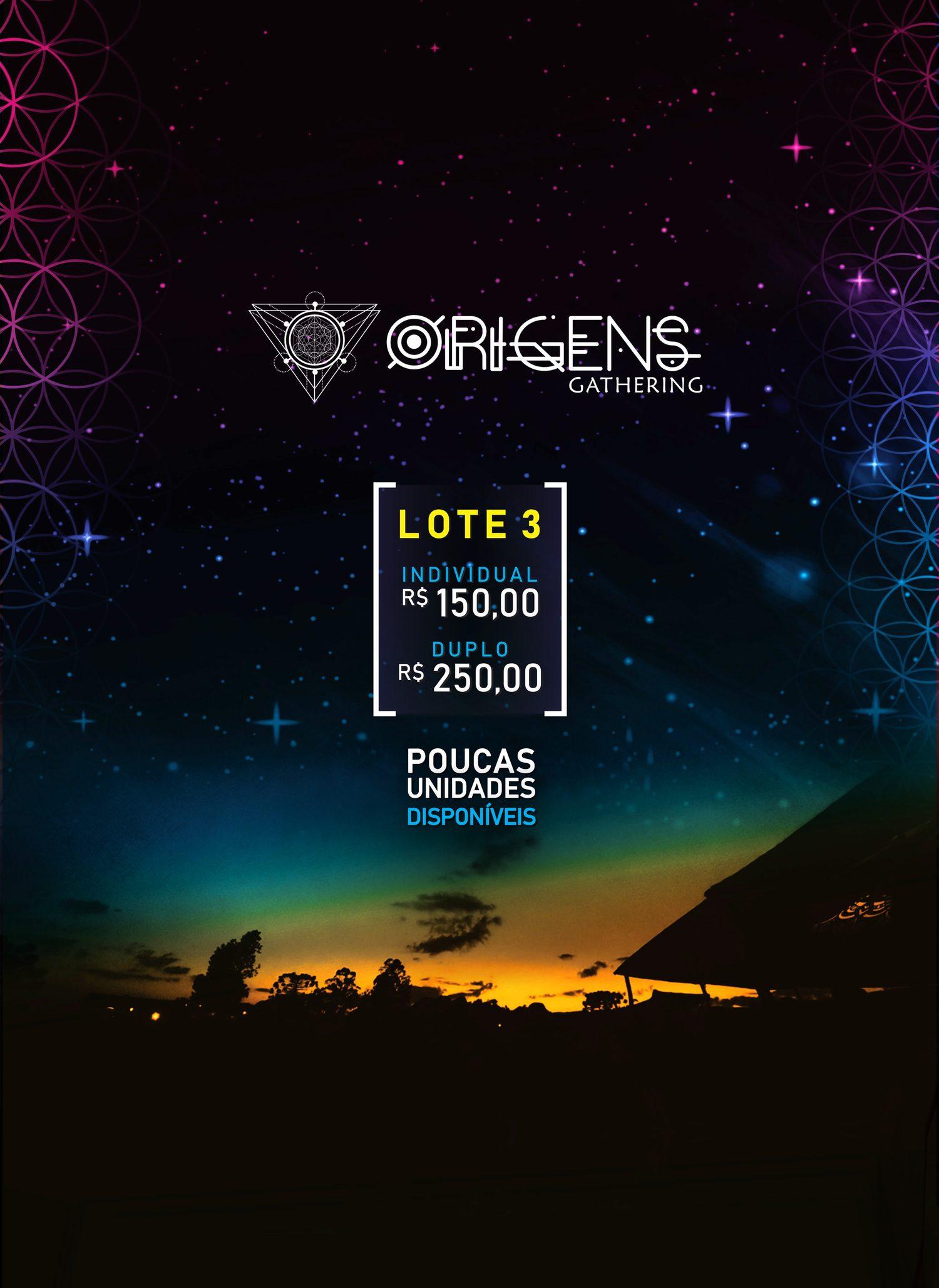 Ingresso Origens Festival - 3º Lote - Passaporte Duplo