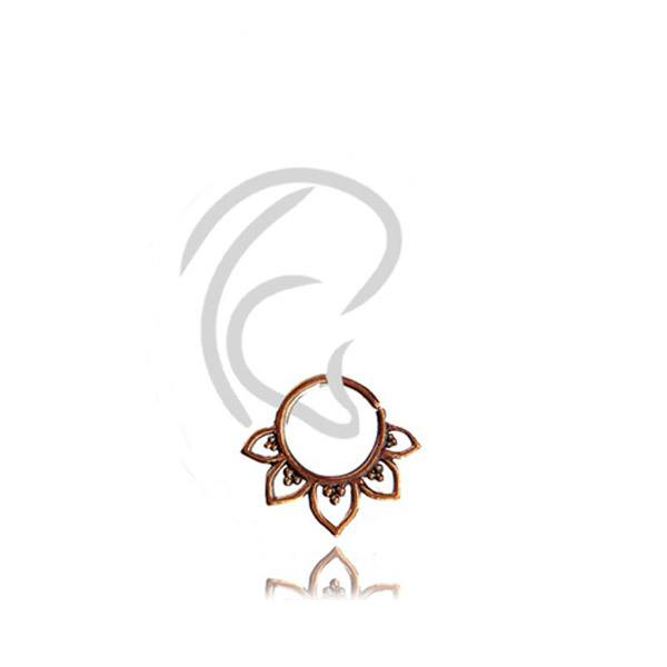 Piercing Flor Indiano Bronze Tragus Helix Septo