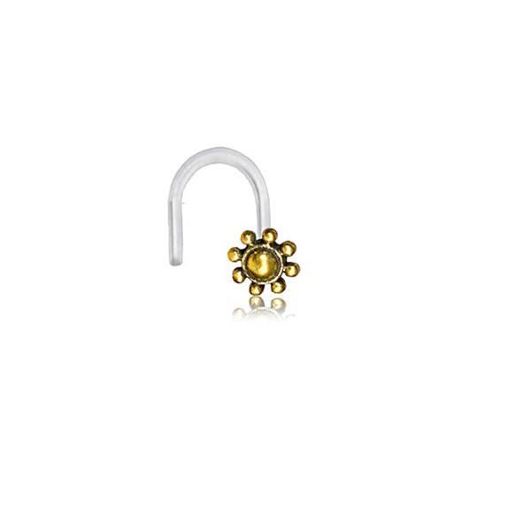 Piercing Nariz Nostril Flor Dourado Pequeno