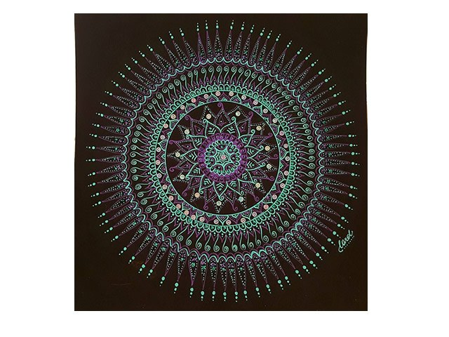 Quadro Mandala - Equilíbrio e Harmonia - 25x25cm