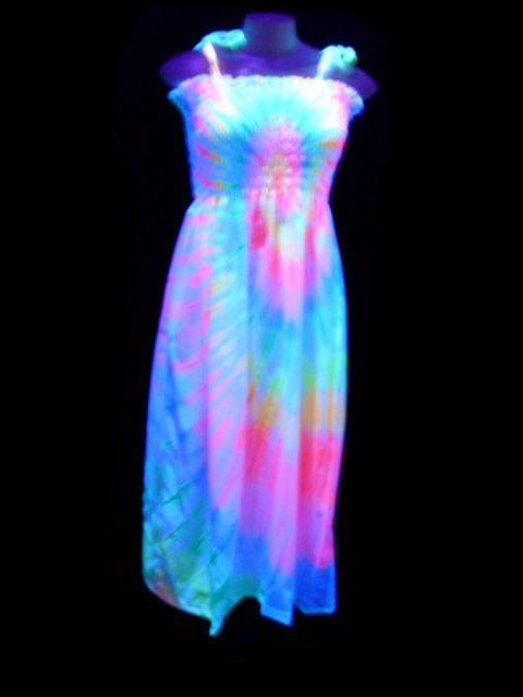 Vestido Fluorescente Lastec Tie-Dye