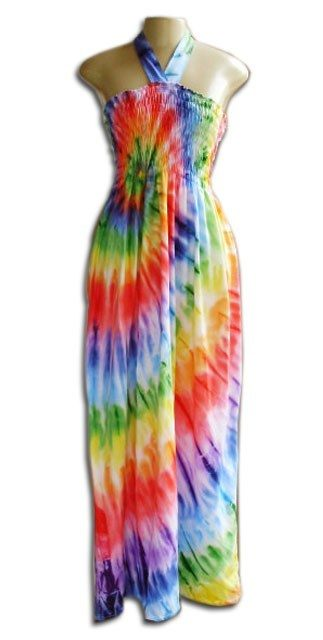 Vestido Longo Lastec Tie Dye Psicodélico 001