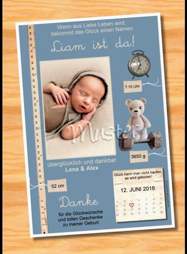 Spruche fur baby dankeskarten